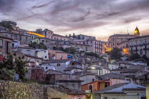Centro storico di Rossano al tramonto